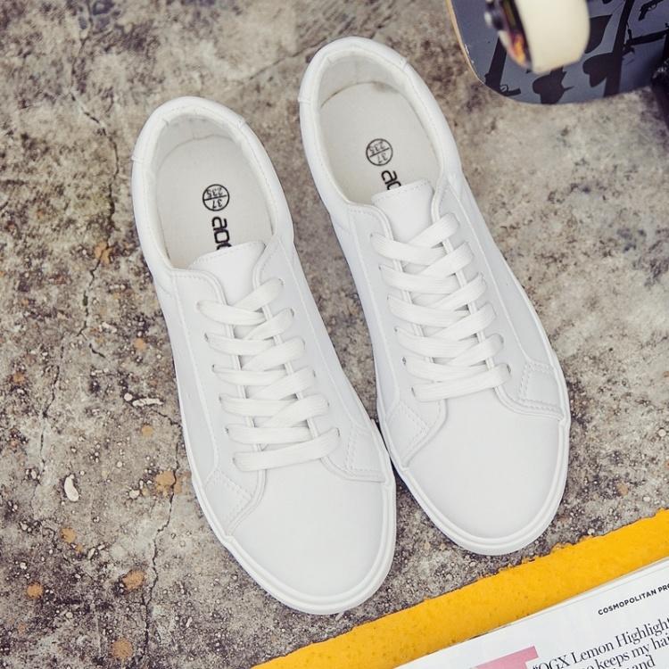 一鞋两穿送袜子送彩虹鞋带当天发货女神同款小白鞋图片