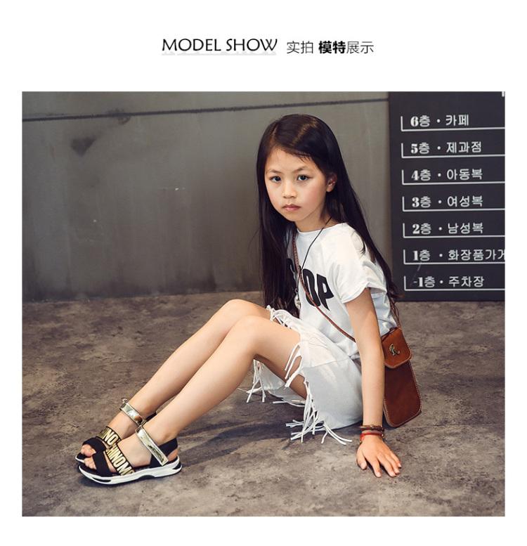 儿童凉鞋女童鞋夏季韩版小女孩公主鞋中大童女童凉鞋新款