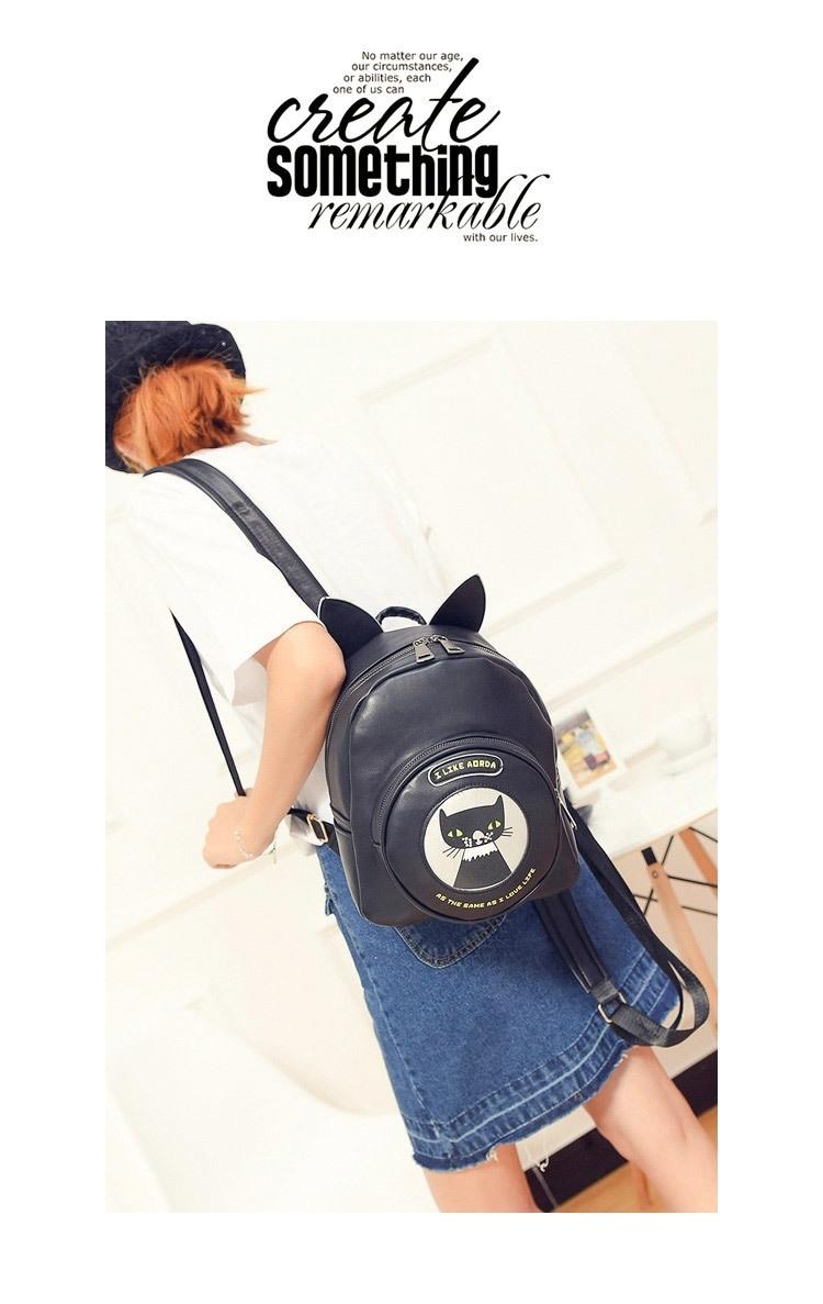 【530【顺丰包邮】2016新款可爱小猫咪双肩包】-包包