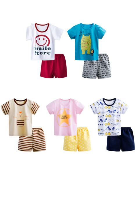 【男童装女宝宝夏装婴儿0幼儿童1衣服装2女童小孩3