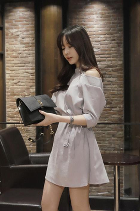http://wenwen.soso.com/p/20100605/20100605145206-222587175.jpg_soso韩版优雅气质露肩系带连衣裙