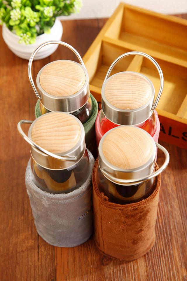 【高品质木纹盖玻璃杯(送杯套)】-null-百货