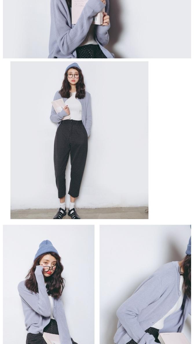 【短款针织开衫外套】-衣服-开衫