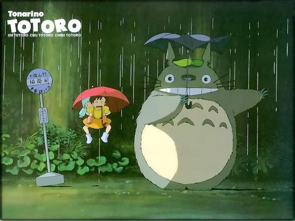 龙猫撑伞简笔画